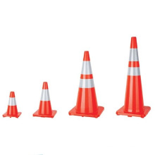 Safety Traffic Cone with Police Light Made of PVC Material