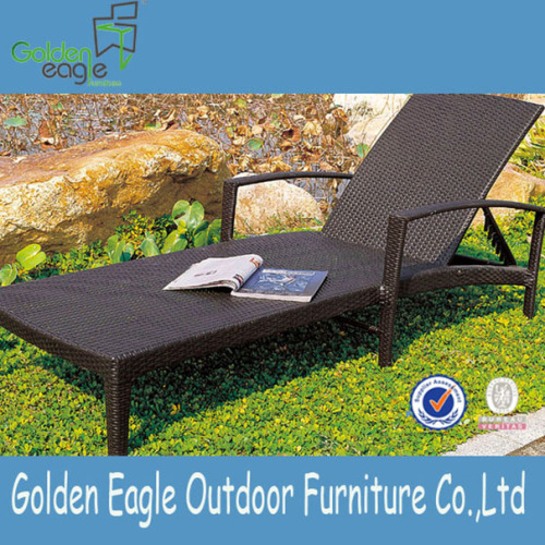 Outdoor Poolside Foldable Rattan Sun Lounger