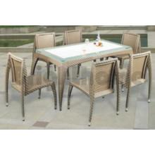 Muebles de mimbre al aire libre / juego de comedor al aire libre (BL-804)