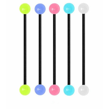 Luminous Titanium Anodized Industrial Barbell