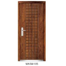 Fornecedor especializado Porta de aço em madeira (WX-SW-105)