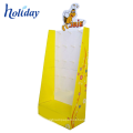 High Quality Portable POP Template Cardboard Floor Tiles Display Racks With Hooks