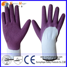 Excellent abrasion latex coated safety work glove