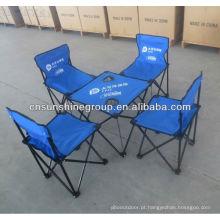 Ao ar livre, cadeira e mesa de campismo de dobramento