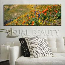 Lona natural de la pintura de la flor del paisaje para la decoración casera