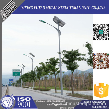 galvanized solar power energy stanchion street light pole