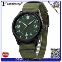 Yxl-861 2016 Люксовый Бренд Военные Часы Мужчины Кварцевые Аналоговые Часы Кожаный Холст Ремешок Часы Мужчины Спортивные Часы Армия Relogios Мужчина Для