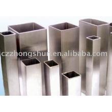 Soudage en tube d'acier carré fini brillant carré tube en acier ASTM A500 rectangulaire fabriqué en Chine