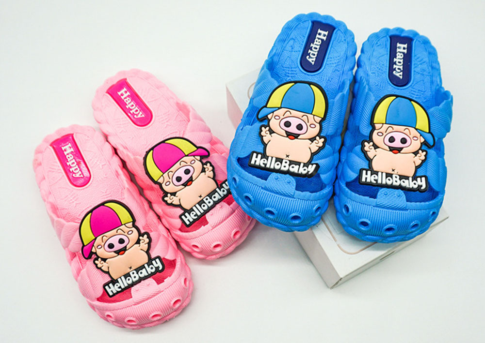 Kids Closed Toe Slippers