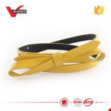 Fancy girl's patent pu bow belts
