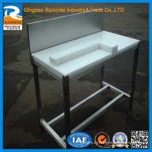 De acero inoxidable de mesa de pie de fabricación