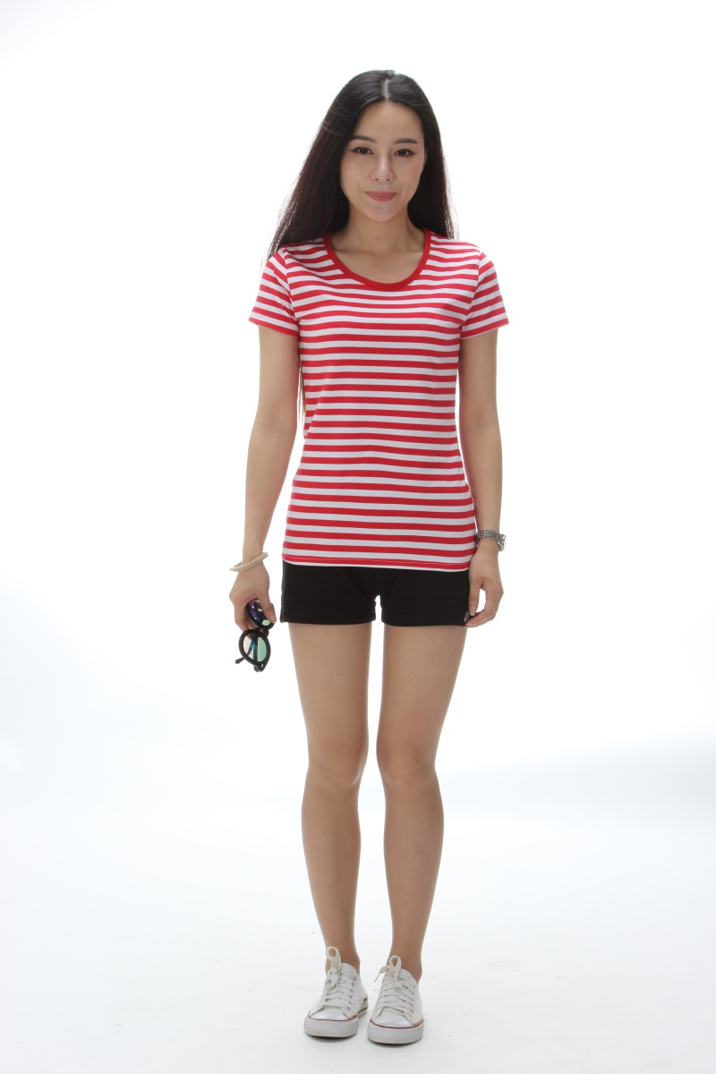 Navy Striped T Shirt