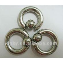 Nouvelle bijouterie piercing design, bague de fermeture à billes en acier inoxydable