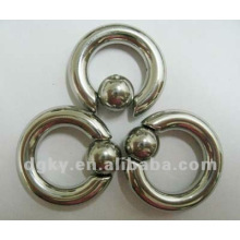 new design body piercing jewelry,stainless steel ball closure ring
