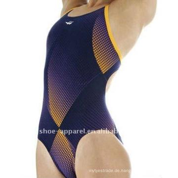 Starke Frauen Kompression Badeanzug ein Stück