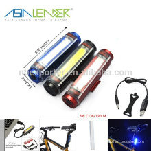 100% Lighting 50% Lighting and Flashing 3.7V Li-ion Battery Power Supply Aluminum 3w Cob Seatpost Flashing LED Light for Bike