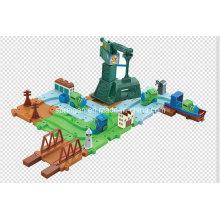 Trens dos blocos jogo o brinquedo com o melhor material