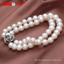 5-6mm Double Round White Fashion Cultured Pearl Bracelet Jewelry