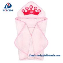 Vente chaude 100% coton conception animale enfants capuche serviettes de bain