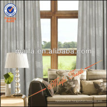 Pinch Pleated Jacquard Fabric Window Curtains With Rings