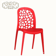 Factory price fashionable dining chair simple modern office reception negotiation plastic chair outdoor leisure coffee chair