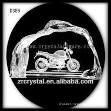 K9 3D Laser Subsurface Motorcycle Inside Crystal Iceberg