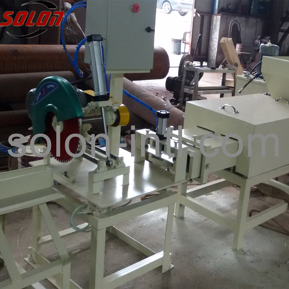 Wood pallet block press machine