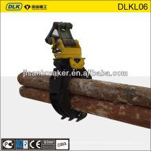 Rotación de registro de madera de piedra Grapple Grab, cuchara de agarre para Hyundai Doosan CAT Excavator