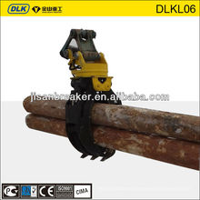 Rotating Wood Log Stone Grapple Grab, grapple bucket for Hyundai Doosan CAT Excavator