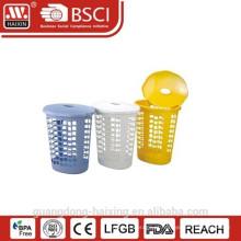 Cesta de lavanderia plástica com swing e lid(55L)