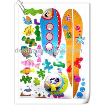 Autocollant mural de dessin animé pour enfants