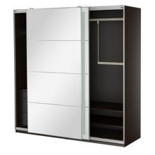 Two Doors Sliding Wardrobe with Fittings (hot sale)
