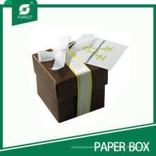 Custom Wedding Favor Gift Box with Bowknot