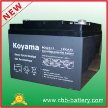 12V 24ah tiefe Zyklus-Gel-Batterie für UPS / Überspannungsschutz