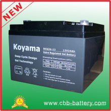 12В 24ah глубокий цикл гель батарея для ИБП/сетевой фильтр