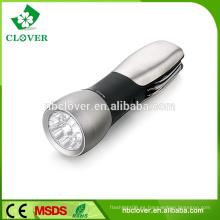 Alta potencia 9 blanco + 1 rojo led multi-función más brillante linterna led
