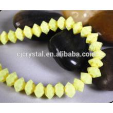 Perles de verre facetées à bas prix perles de soucoupes volantes, perles de bicône
