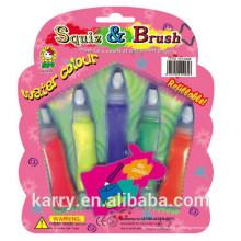Cor de água de 5 cores (tampa de escova, embalagem de cartão)