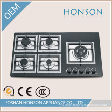 Cast Iron Tempered Glass Built in Gas Hob Gas Cooker