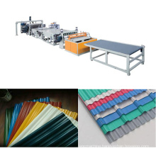 PVC/PP Corrugated Roofing Sheet Extrusion Line / Producing Machine