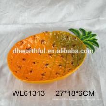 Plateaux en céramique en ananas haute qualité