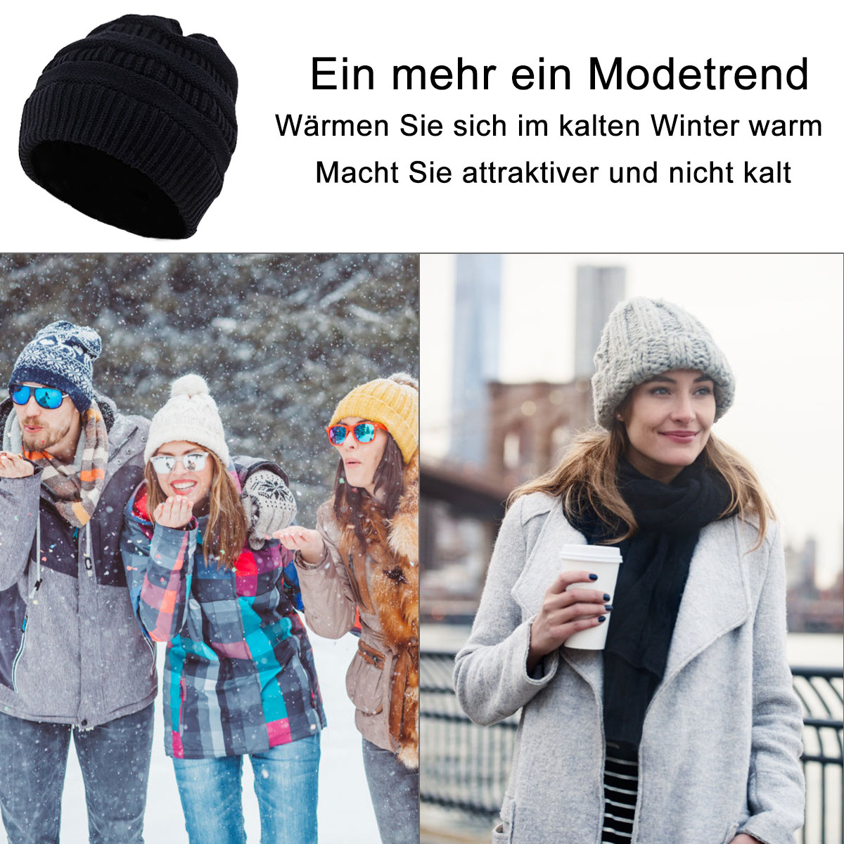 women knit hat