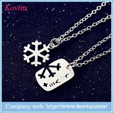 Weihnachtsschneeflocke Halskette 925 Sterling Splitter Schmuck Liebhaber Halskette Design