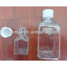 Botella cuadrada de plástico