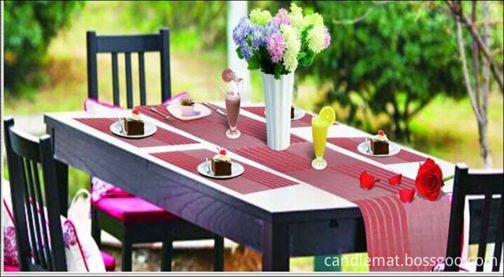 Family restaurant six pieces of PVC table mat decoration shop2
