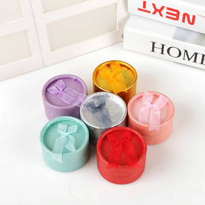 Round jewelry box jewelry ring packaging box