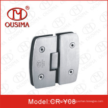 Unique 180 Degree Glass to Glass Arc Shower Hinge with High Quality (CR-Y08)