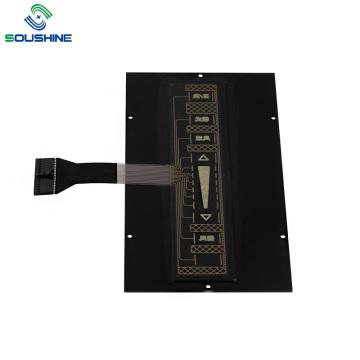 Interruptor de membrana de toque do painel frontal de acrílico PMMA de 2 mm