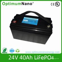 Bateria 24V40ah LiFePO4 para veículos de baixa velocidade