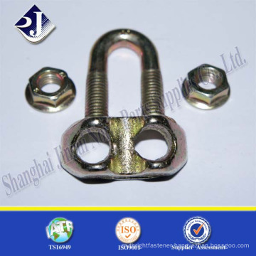 galvanizing u bolt cable clamp yellow